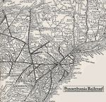 1935 Pennsylvania R.R. East Coast Map
