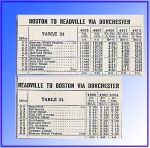 1937 NH Dorchester - Readville Timetable