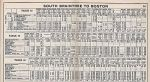 1937 Quincy / West Quincy - South Braintree Timetable