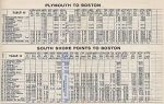 1937 NH Plymouth Timetable