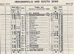 1935 PRR Logansport - South Bend Timetable