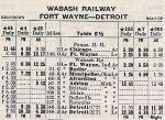 1935 Wabash R.R. Detroit Timetable