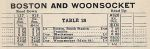 1937 NH Woonsocket Timetable