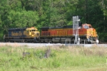 BNSF 5452 ready for Fresh automobiles.