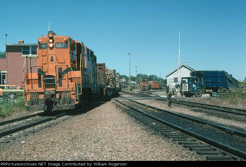 "Maine Central Railroad EMD GP7 No. 567 passes Tower ""A"""
