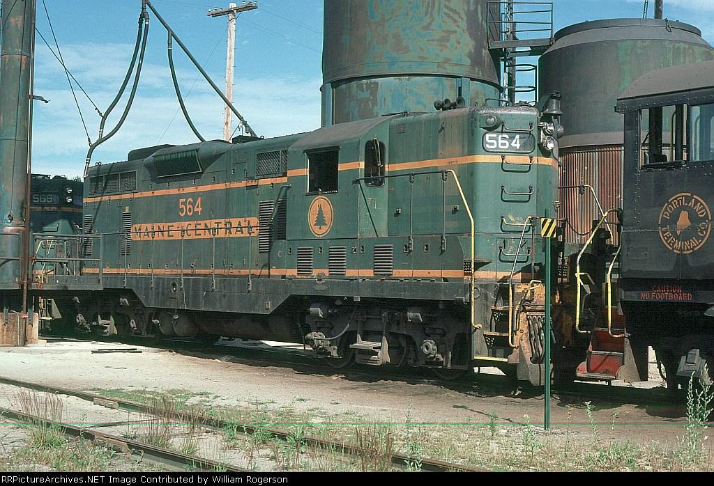 Maine Central Railroad (MEC) EMD GP7 No. 564