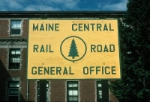 Maine Central Railroad (MEC) General Office Sign