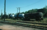 View of Maine Central Railroad (MEC) Diesel Fuel Storage Tank Cars