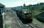 "Northbound Maine Central Railroad Mixed Freight Train ""RY-2"" passing ""PT"" Tower"