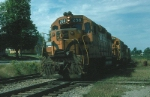 """Maine Central Railroad Mixed Freight Train """"RB-3"""" with EMD GP38 No. 258 and GE """"Independence Class"""" U18B, No. 401, """"Hannah Weston"""" providing power"""