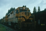 """Maine Central Railroad Mixed Freight Train """"RB-1"""" with EMD GP38 No. 258 in the lead"""