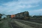 A Southbound Maine Central Railroad (MEC) Mixed Freight Train enters Rigby Yard