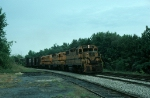 Southbound Maine Central Railroad (MEC) Mixed Freight Train