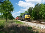 CSX 41 on a SB Pig/Auto rack train