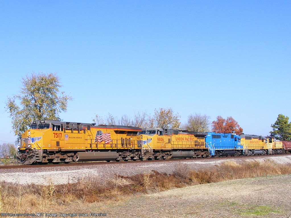UP 7517 UP 9806 LLPX 2263 UP 1475 UPY 1392