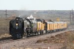 UP 844 heads home to Wyoming on BNSF rails across the Texas panhandle
