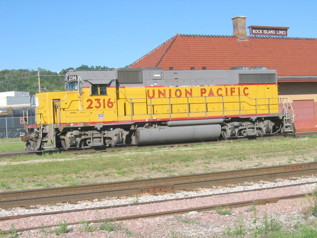UP Power In Front of Historic Depot