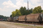Going away shot of a Southbound Kansas City Southern Railway Mixed Freight Train