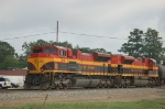 Southbound Kansas City Southern Railway Mixed Freight Train
