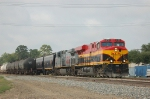 Northbound Kansas City Southern Railway Unit Grain Train