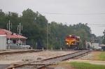 Southbound Kansas City Southern Railway Mixed Freight Train