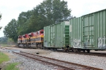 Going away shot of a Southbound Kansas City Southern Railway Mixed Freight Train
