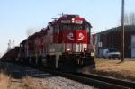 RJC 3801 leads the Ingot train southbound thru Bowling Green.
