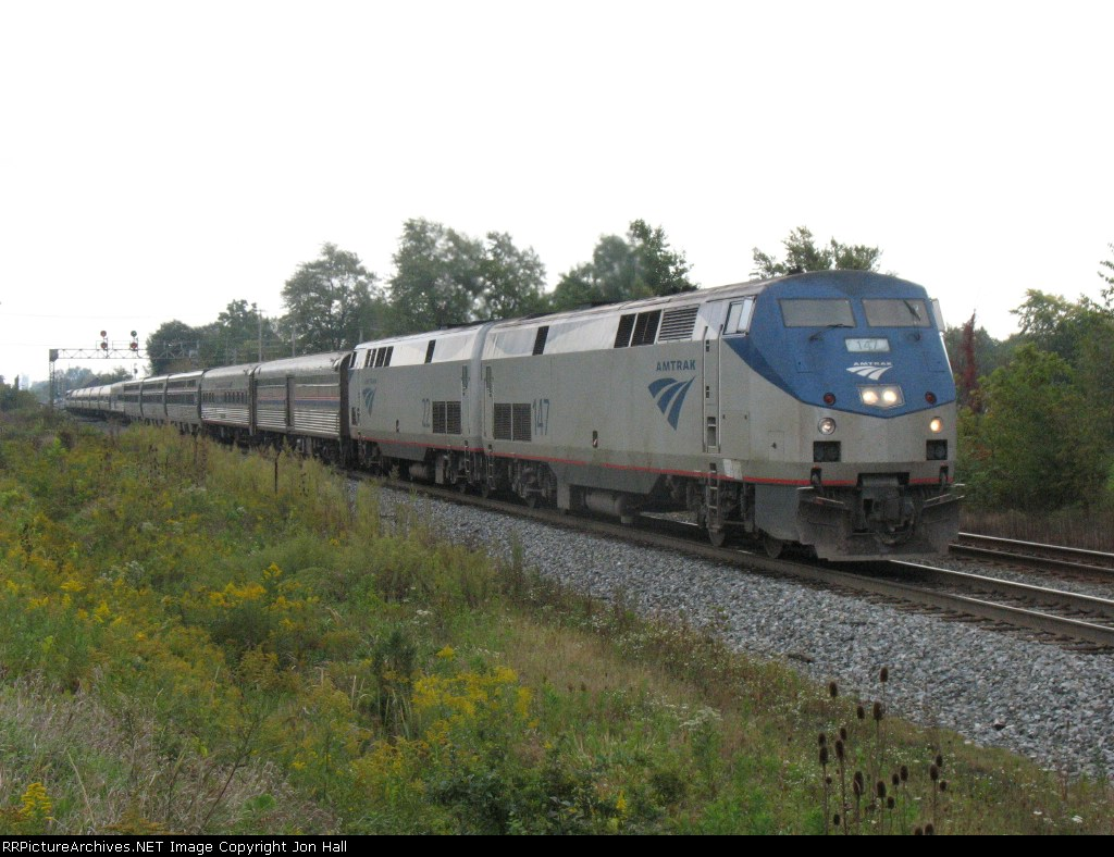 AMTK 147 & 22 continuing towards Chicago