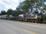 NS 9606 & 8673 sit short of the yard with 177