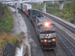 NS 9313 & 9195 heading east with 20A