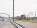 UP 6560 leads a coal train into El Paso