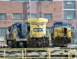 CSX 5863 and 364