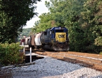 CSX 8554 pushing hard
