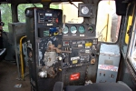 In the cab of CSX 8350