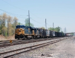 CSX 5304 emerges from the heat waves
