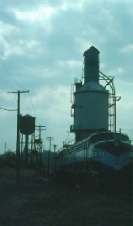 New Jersey Department of Transportation (NJT) EMD E8A No. 4285 and Coaling Tower