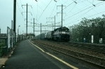 New Jersey Department of Transportation (NJT) EMD GP40P No. 4102 leads a Southbound Commuter Train