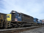 CSX 4617, NOT A DASH-2 BUT A NOTABLE STRAIGHT 40, LAST ONE ON CSX