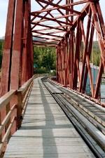 RAILROAD BRIDGE AT CARCROSS, YUKON TERRITORY