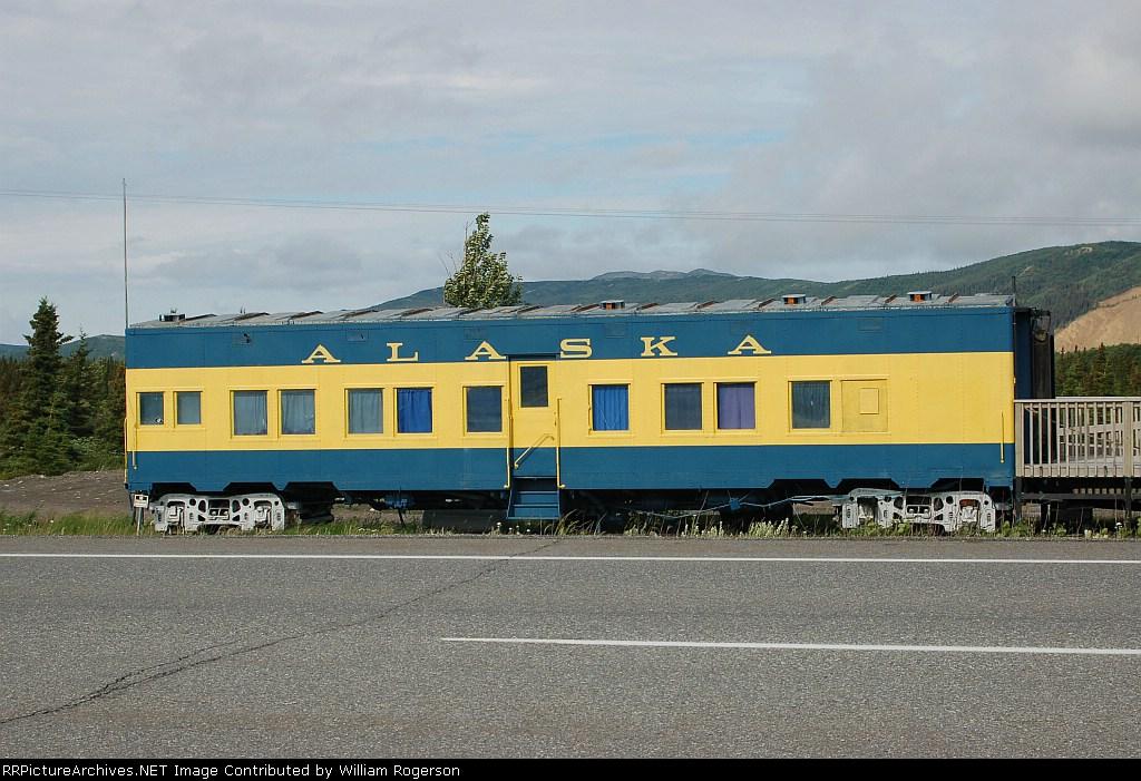 Former Alaska Railroad Troop Sleeper converted to a Rental Unit