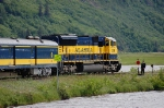 Alaska Railroad (ARR) EMD SD70MAC No. 4319 and Baggage/Steam Generator Car No. 100