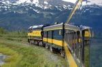"Alaska Railroad (ARR) ""Glacier Discovery"" Passenger Train led by EMD F40PH No. 31"
