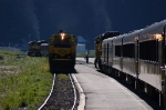 Alaska Railroad (ARR) Passenger Train Meet
