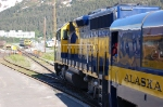 Alaska Railroad (ARR) EMD GP40-2 No. 3015 faces EMD GP40-2 No. 3014