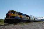 "Alaska Railroad (ARR) ""Glacier Discovery"" Passenger Train led by EMD SD70MAC No. 4318"