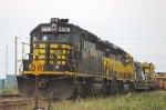 Alaska Railroad (ARR) EMD GP40-2's No. 3008 and No. 3010 power a work train