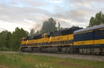 "Alaska Railroad's Southbound ""Denali Star"" Passenger Train departs the Station"