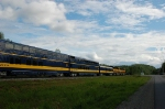 "Alaska Railroad's Northbound ""Denali Star"" departs the Station"