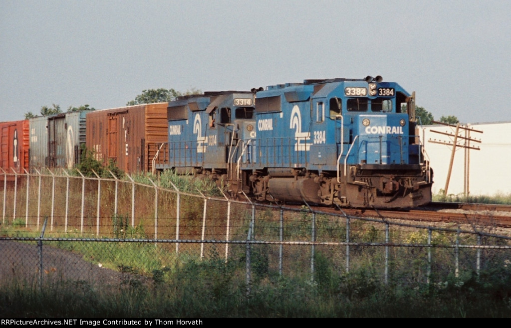 A CR general merchandise freight holds on the Royce Running Track