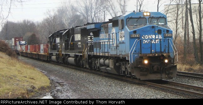 NS 24V is on the move once again after NS 213 takes the passing siding